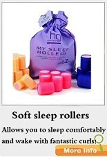 Soft sleep hair rollers - sleep in comfort awake with curls.