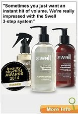 Swell - Creates thicker, stronger hair and healthier roots when used regularly - volumizing range.
