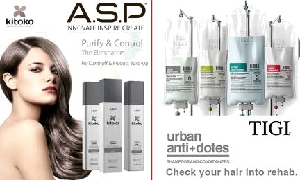 ASP Kitoko range and TIGI Bed Head Urban Antidotes
