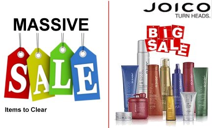 Sale items to clear - grab a bargain Plus Joico is now on clearance