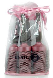 Hair Tools Head Jog Pink Ionic Ceramic Hair 5 Brush Gift Set